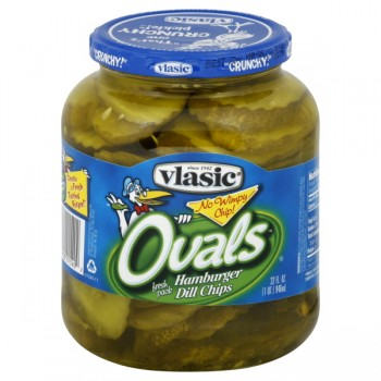Vlasic Ovals Hamburger Pickles Dill Chips