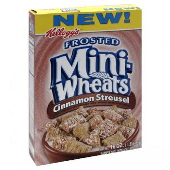Kellogg's Mini Wheats Cereal Frosted Cinnamon Streusel