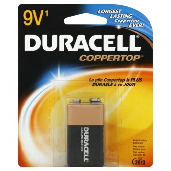 Duracell Coppertop Alkaline Batteries 9 Volt