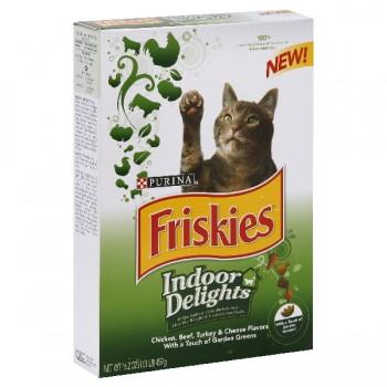 Friskies Dry Cat Food Indoor Delights