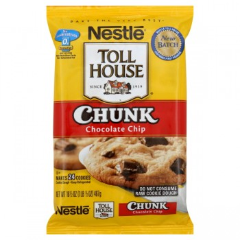 Nestle Toll House Cookie Dough Bar Chocolate Chunk - 24 ct