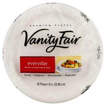 Vanity Fair Premium Plates Everyday 9 Inch