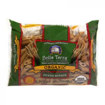 Bella Terra Pasta Penne Rigate 100% Whole Wheat All Natural Organic