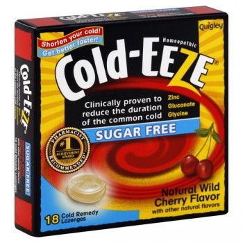 Cold-Eeze Homeopathic Cold Drop Lozenges Sugar Free Cherry