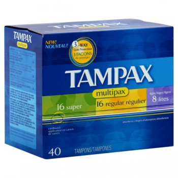 Tampax Tampons Multipack Super, Regular & Lite with Flushable Applicator