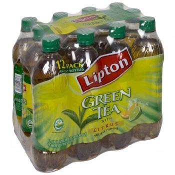 Lipton Green Iced Tea Citrus Natural Flavors - 12 pk