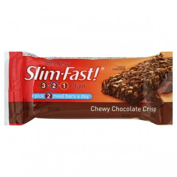 Slim Fast 3-2-1 Plan 200 Calorie Bar Chewy Chocolate Crisp