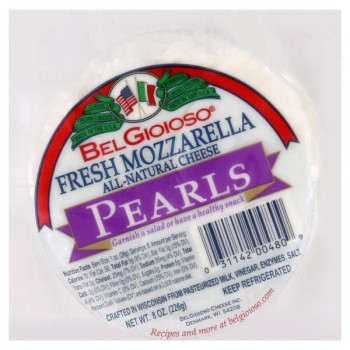 BelGioioso Cheese Mozzarella Fresh Pearls All Natural Cryovac