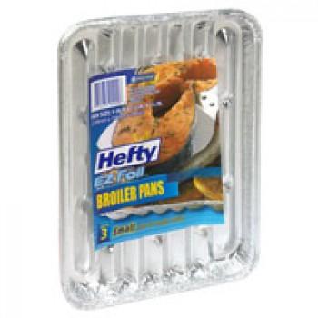 Hefty EZ Foil Broiler Pans Petite 9 X 6 X 1 Inch
