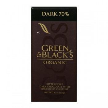 Green & Black's Chocolate Bar Dark with 70% Cocoa Content Organic