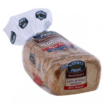 Nature's Pride OvenClassics Bread 100% Whole Wheat 100% Natural