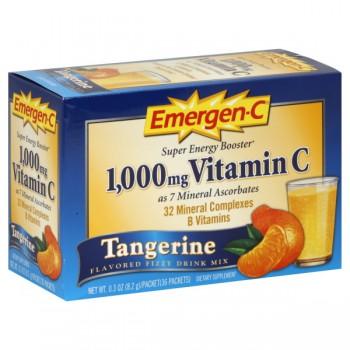 Emergen-C Super Energy Booster Fizzy Drink Mix Tangerine - 30 ct
