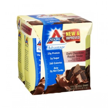 Atkins Advantage Dark Chocolate Royale Shake RTD - 4 pk