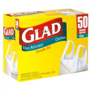 Glad Handle-Tie Kitchen Bags Tall 13 Gallon