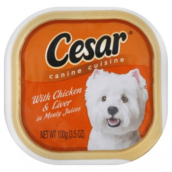 Cesar Original Pate Wet Dog Food Chicken & Liver