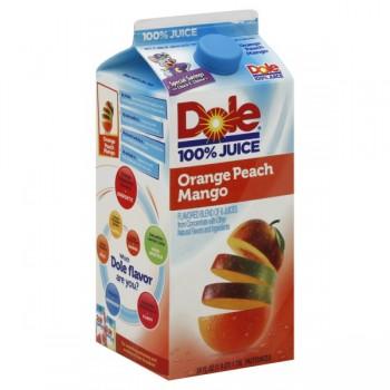 Dole 100% Orange Peach Mango Juice Blend