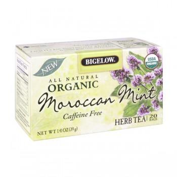 Bigelow Moroccan Mint Herbal Tea Bags Organic