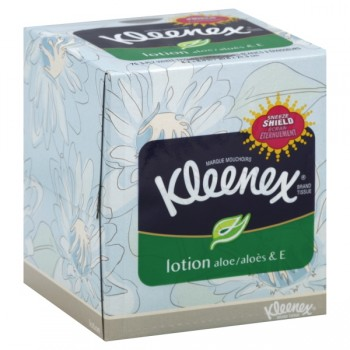Kleenex Facial Tissue with Lotion Aloe & Vitamin E Assorted Colors