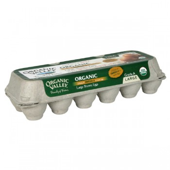 Organic Valley Eggs Grade A Large Brown with Omega-3