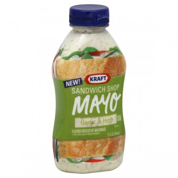 Kraft Sandwich Shop Mayonnaise Reduced-Fat Garlic & Herb