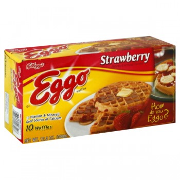 Kellogg's Eggo Waffles Strawberry - 10 ct
