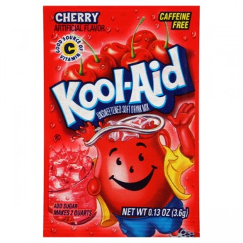Kool-Aid Cherry Drink Mix Unsweetened - Makes 2 Quarts