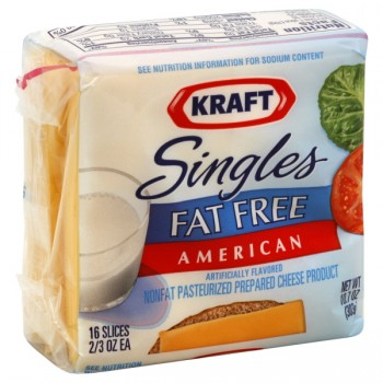 Kraft Cheese American Fat Free Singles - 16 ct
