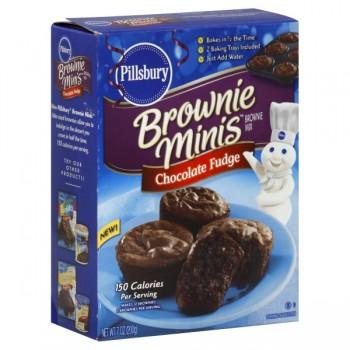 Pillsbury Brownie Minis Brownie Mix Chocolate Fudge with 2 Baking Trays