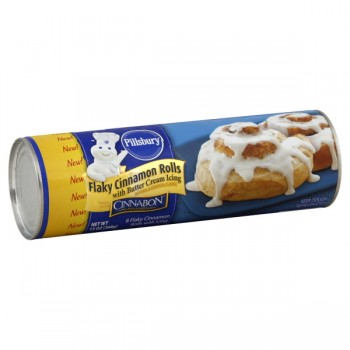 Pillsbury Rolls Cinnamon Flaky with Vanilla Buttercream Icing - 8 ct