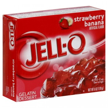 Jell-O Gelatin Dessert Strawberry-Banana