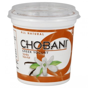 Chobani Greek Yogurt Vanilla 0% Non Fat All Natural