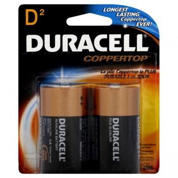 Duracell Coppertop Alkaline Batteries Size D