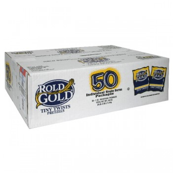 Rold Gold Pretzels Tiny Twists Single Serve Packages - 50 ct