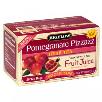 Bigelow Pomegranate Pizzazz Herbal Tea Bags No Caffeine