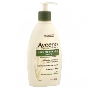 Aveeno Daily Moisturizing Lotion Fragrance Free with Oatmeal Pump