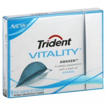 Trident Vitality Vigorate Gum Citrus & Strawberry Sugar Free Single Pack