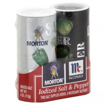 Morton Salt & Pepper Pre-Filled Shakers