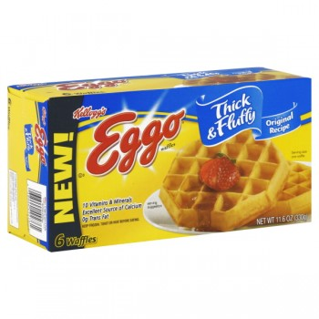 Kellogg's Eggo Waffles Thick & Fluffy Original Recipe - 6 ct