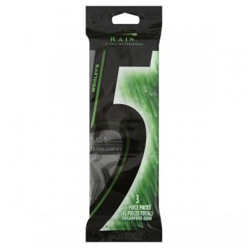 Wrigley's 5 Gum Rain Tingling Spearmint Sugar Free - 3 pk