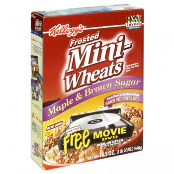 Kellogg's Mini Wheats Cereal Frosted Maple