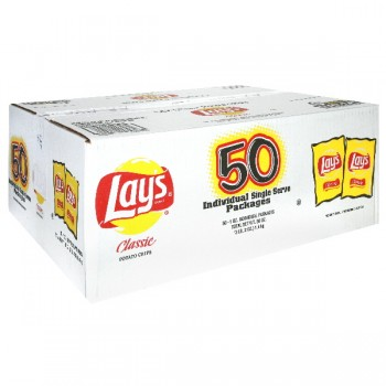 Lay's Potato Chips Classic Single Serve Packages - 50 ct