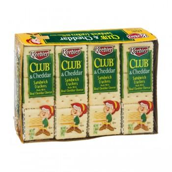 Keebler Sandwich Crackers Club & Cheddar Cheese - 8 ct