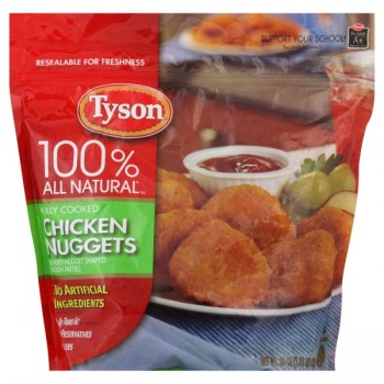 Tyson Chicken Nuggets Breaded Fully Cooked 100% All Natural Frozen