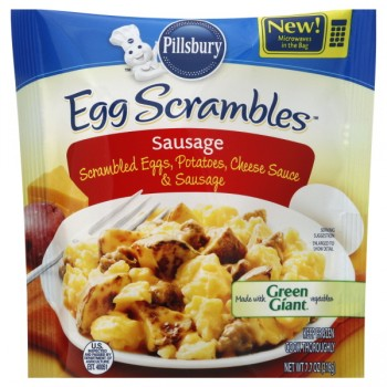 Pillsbury Egg Scrambles Sausage with Cheese