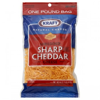 Kraft Cheese Cheddar Sharp Shredded
