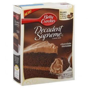 Betty Crocker Decadent Supreme Cake Mix Chocolate Mousse