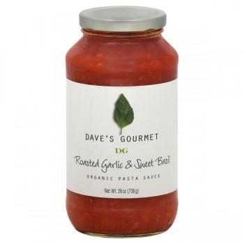 Dave's Gourmet Pasta Sauce Roasted Garlic & Sweet Basil Organic