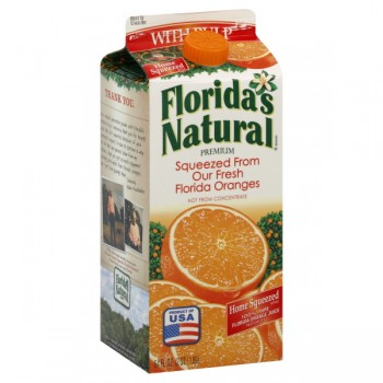Florida's Natural Premium Orange Juice Home Squeezed with Pulp