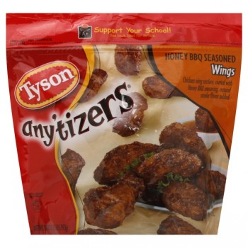Tyson Any'tizers Chicken Wings Honey BBQ Seasoned Fully Cooked Frozen