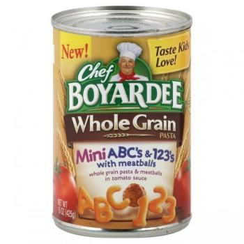 Chef Boyardee Whole Grain Pasta ABC's with Meatballs
